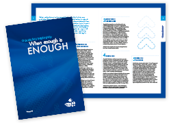 Research by Design / White Paper - When enough is enough